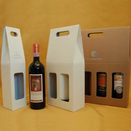 Bottle gift boxes with handle